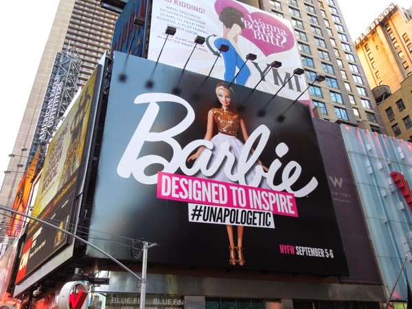 Barbie Designed to inspire unapologetic billboard NYC