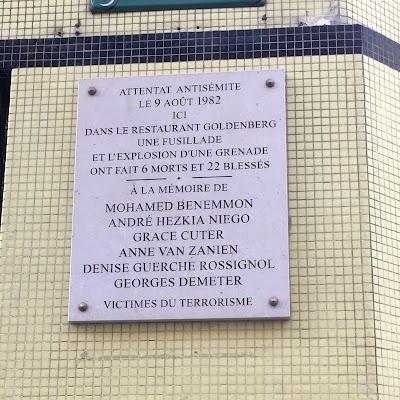 Targa vittime attentato Goldenberg