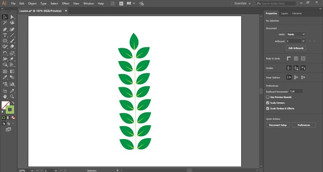 Laurel Wreath in Adobe Illustrator