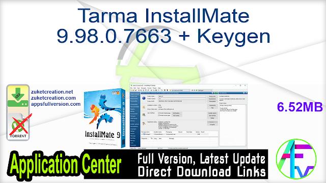 Tarma InstallMate 9.98.0.7663 + Keygen