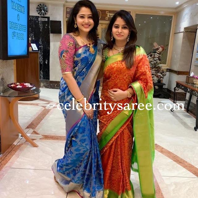 Priya Atlee Blue Silk Saree