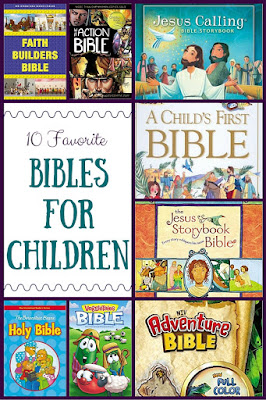 Mommy & Her Men's 10 favorite Bibles for children!  Perfect for babies, toddlers, and elementary kids!