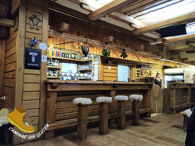 Barra del bar restaurante Koliba Diery Terchová gluten free
