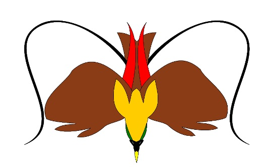 Red Bird of Paradise vector art using inkscape