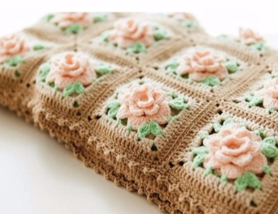with delicate roses pattern tutorial