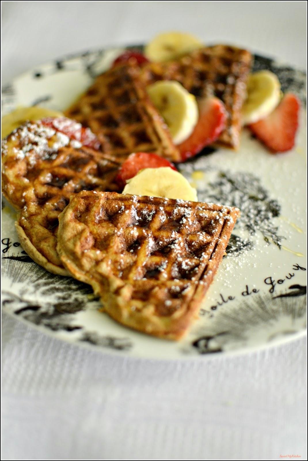 Waffles de banana   Sweet my Kitchen   Bloglovin'