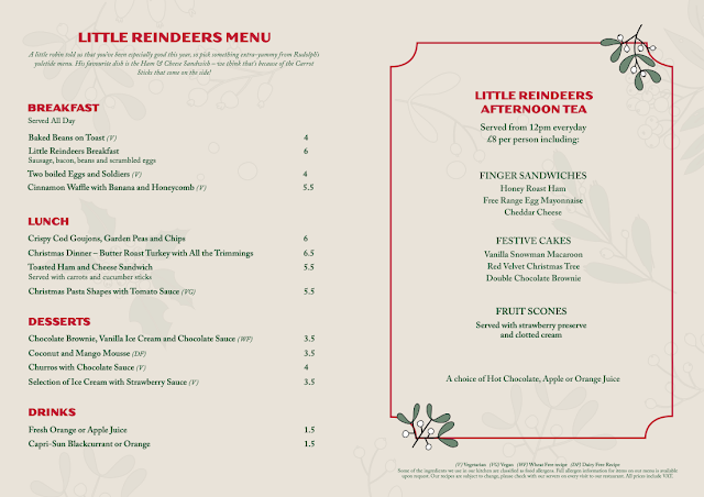 Rudolph's Restaurant Fenwick : Children's Menu
