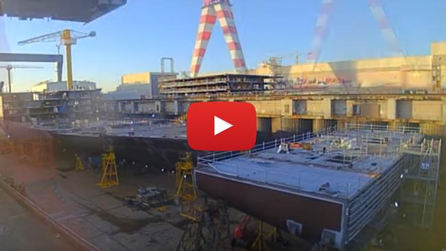 ► Vídeos espectaculares/curiosos: Construcción del Meraviglia en 3 minutos