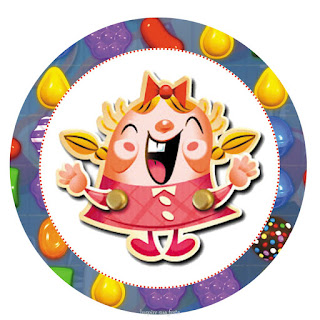 Toppers o Etiquetas de Fiesta de Candy Crush para Imprimir Gratis.