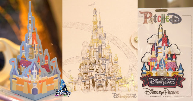 Castle-of-Magical-Dreams, merchandise, Hong Kong Disneyland, princess, post cards, keychain, 香港迪士尼樂園, 奇妙夢想城堡