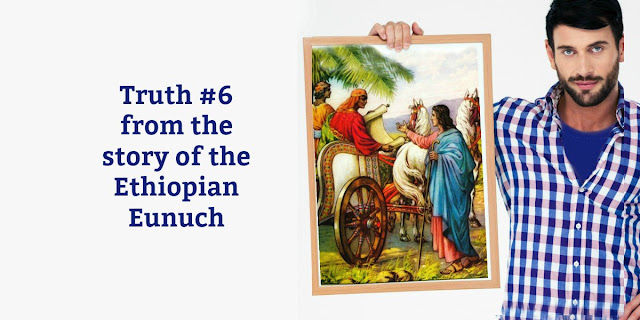 The story of the Ethiopian eunuch in Acts 8 reveals a wonderful truth about genuine conversion. This 1-minute devotion explains.