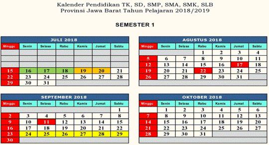 Kaldik 2018/2019 TK, SD, SMP, SMA, SMK dan SLB