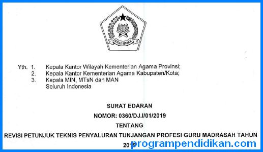 Revisi Juknis TPG Madrasah 2019