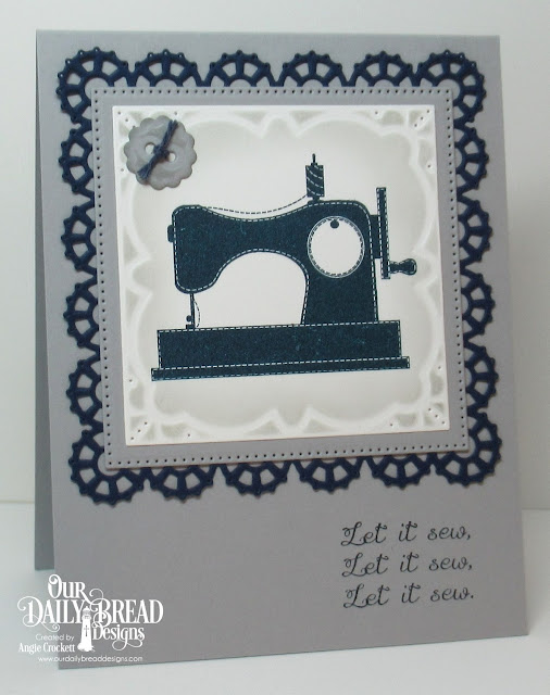 ODBD A Time To Mend, ODBD Custom Sewing Set Dies, ODBD Custom Layered Lacey Squares Dies, ODBD Custom Pierced Squares Dies, Card Designer Angie Crockett