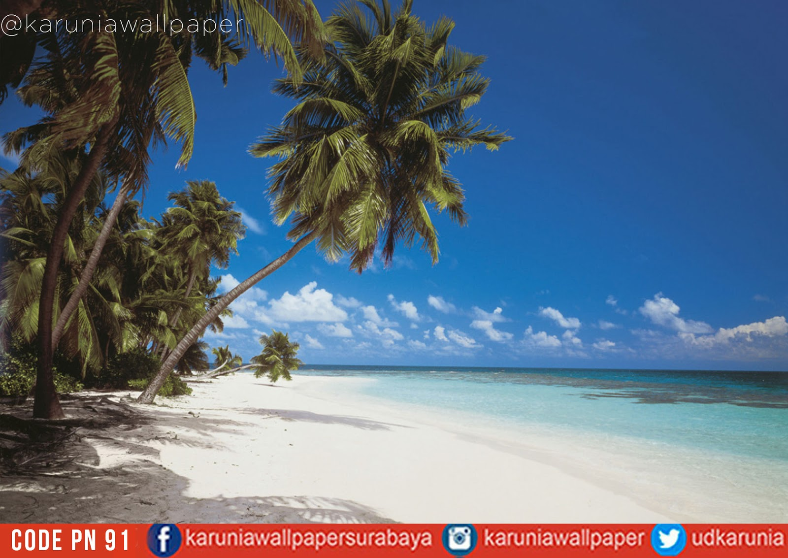 jual dinding wallpaper pantai maldives