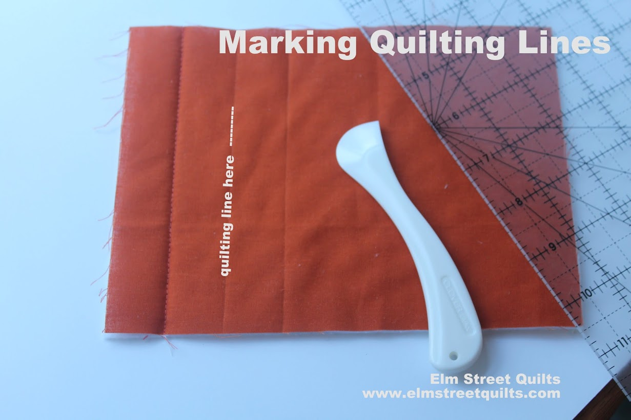 marking quilting lines tutorial