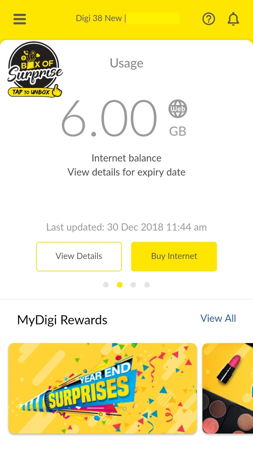 Digi New 38 Postpaid Package with unlimited data only RM98/month