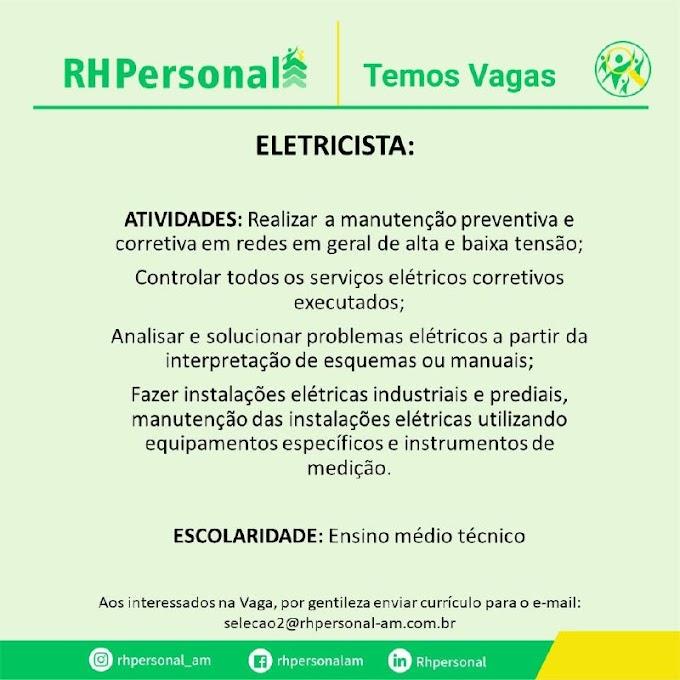 RH PERSONAL - TEMOS VAGAS 25/06/21