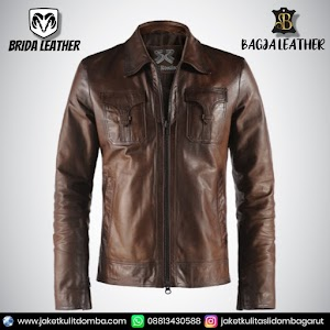 Jual Jaket Kulit Asli Garut Pria Domba Original Brida Leather B21   WA 08813430588