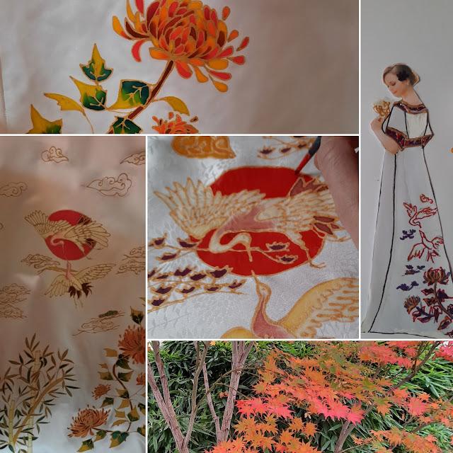 Robe de mariée japonisante