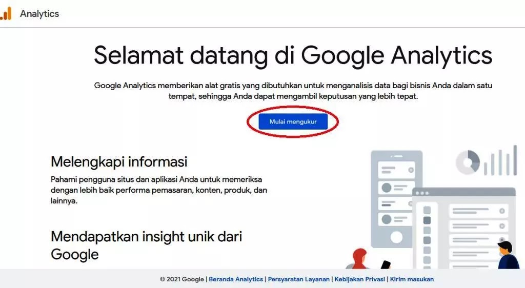 Welcome Page Google Analytics