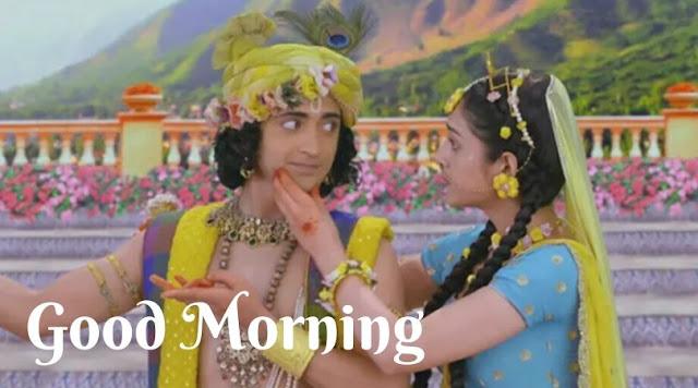 radha krishna image good morning shayari