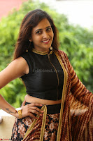 Lasya looks super cute in black choli Saree at Raja Meru Keka Press Meet ~  Exclusive 022.JPG