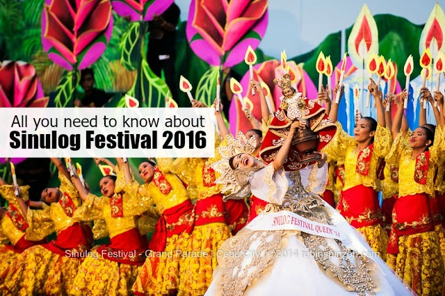 Sinulog Festival 2016 Schedule of activities