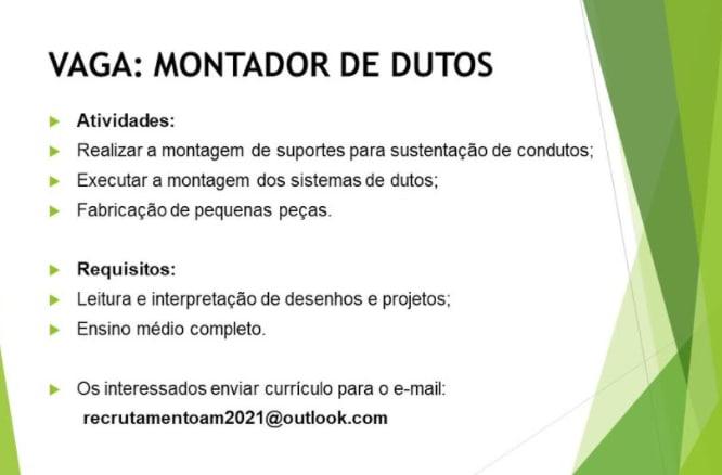 VAGA-MONTADOR DE DUTOS