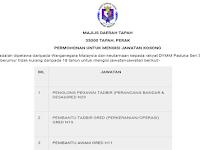 Kekosongan Terkini di Majlis Daerah Tapah