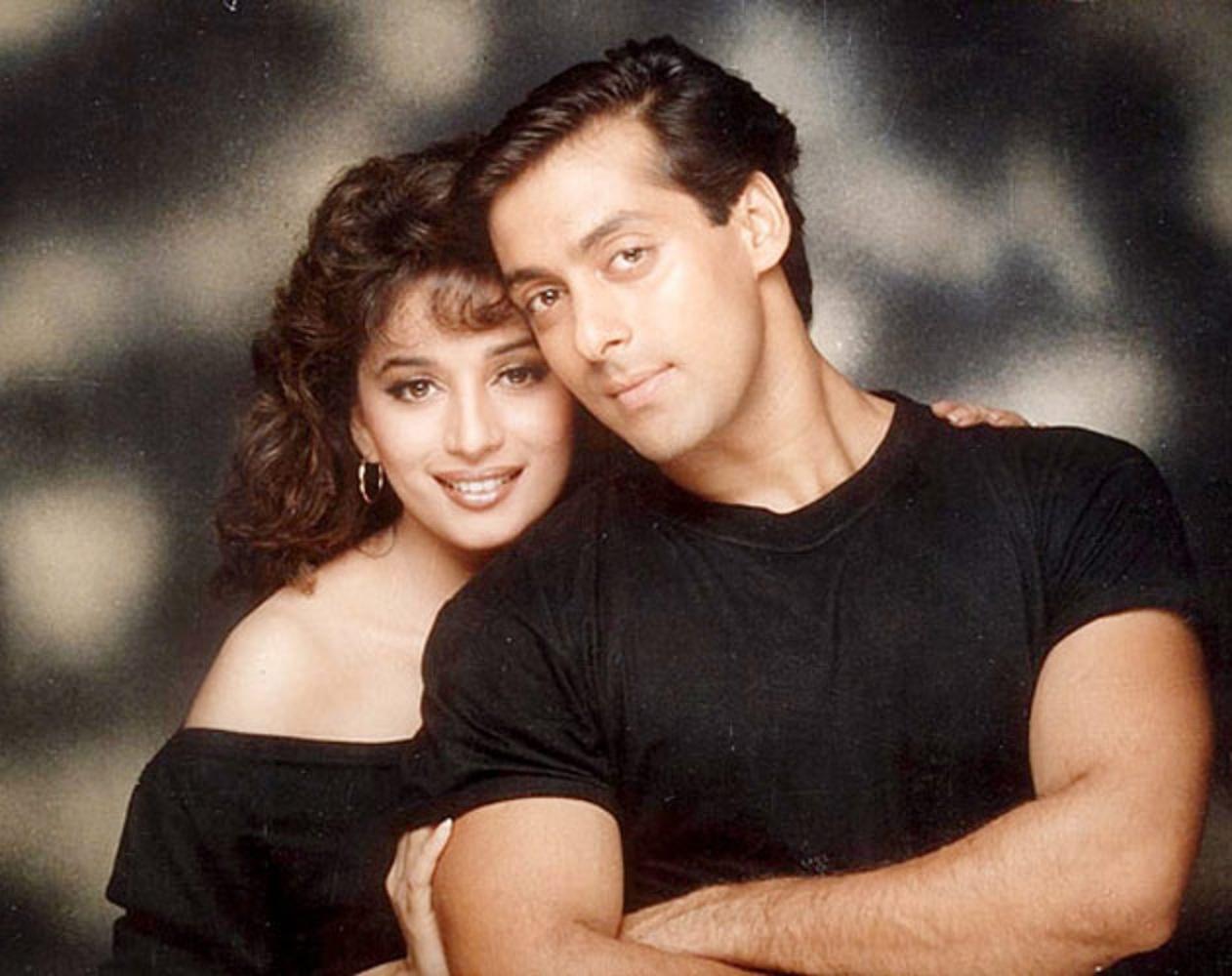 Beautiful Copule Madhuri Dixit And Salman Khan Wallpaper Beautiful