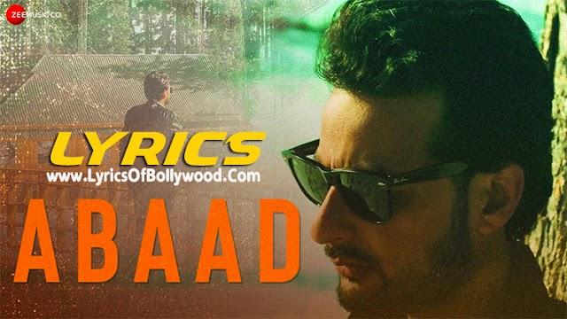 Abaad Song Lyrics | Yawar Abdal | Mannat | Sunayana Kachroo
