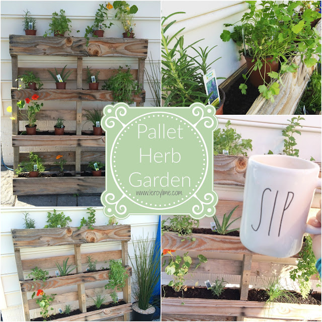 Pallet Herb Garden - LeroyLime the Blog