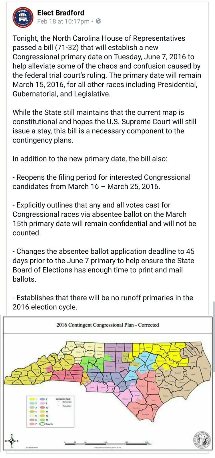 so over the next few weeks expect a lot of jockeying around who will file for congress when the new filing period opens the day after the rest of the