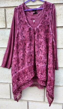 tunica bluson rosa viejo bauldealgodon