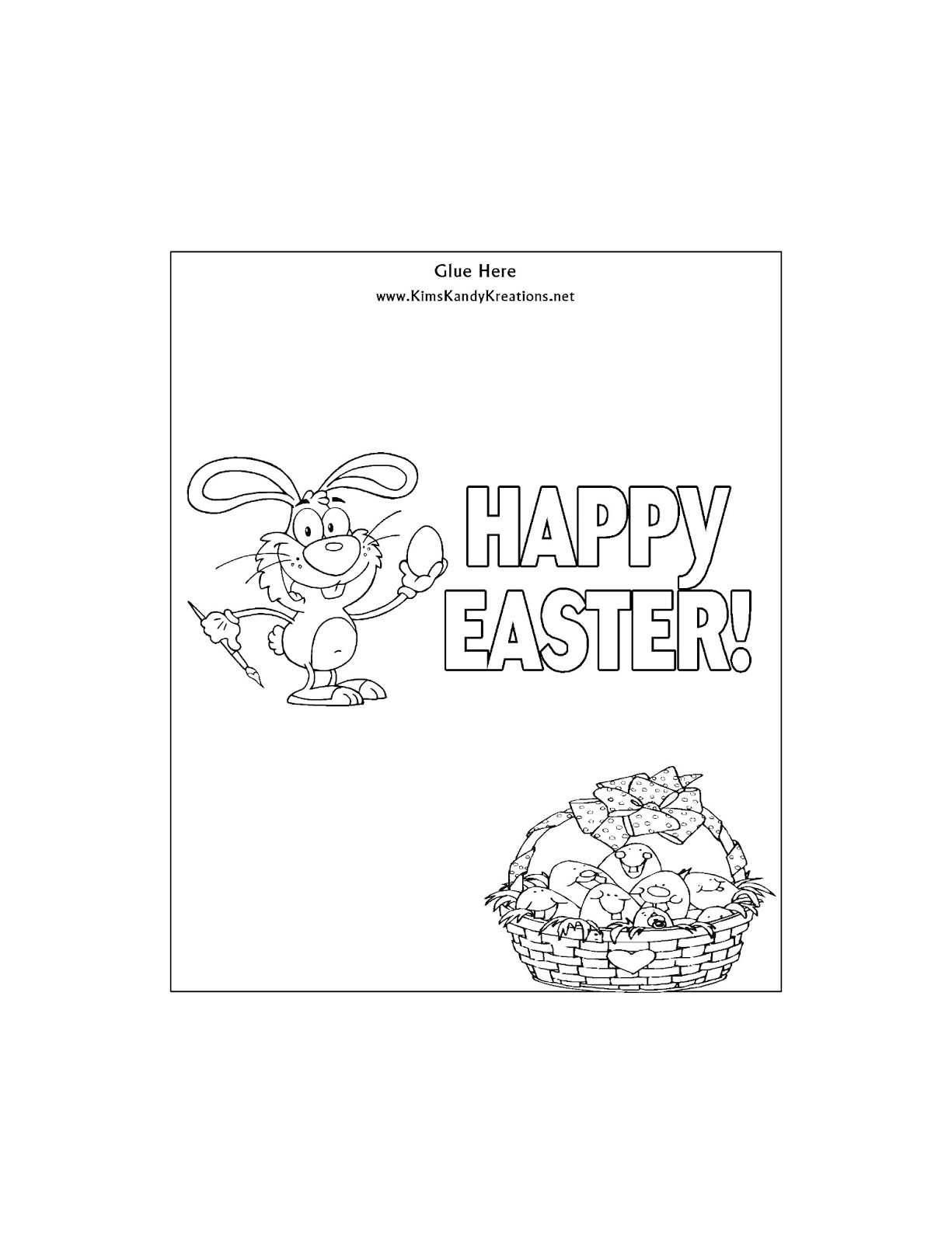 Easter Coloring Page Candy Bar Wrapper Free Printable