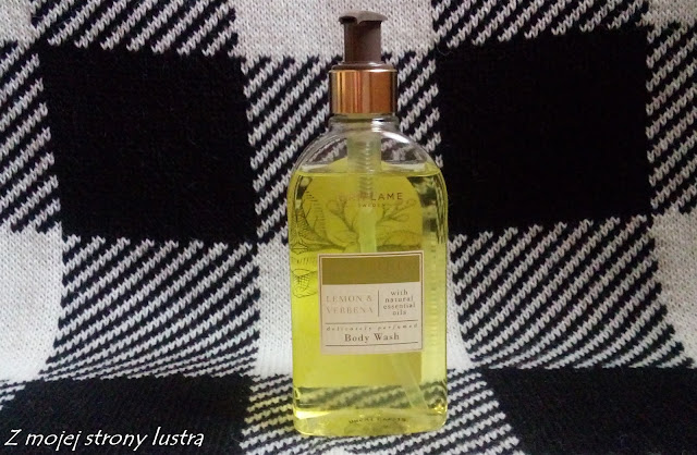 Oriflame żel pod prysznic essence cytryna i werbena.