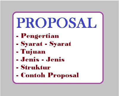 Jenis - Jenis dan Contoh Proposal