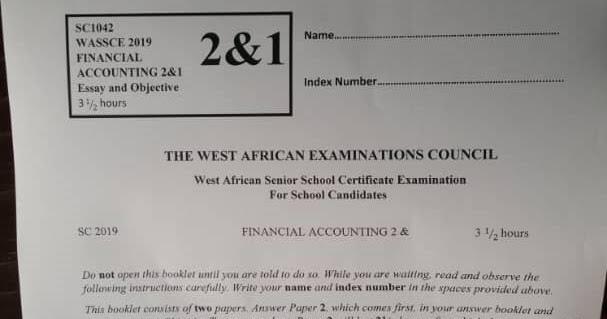 2019 WAEC FINANCIAL ACCOUNTING EXPO   ExamBond