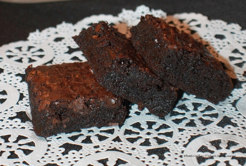 these are homemade brownies on a dollie