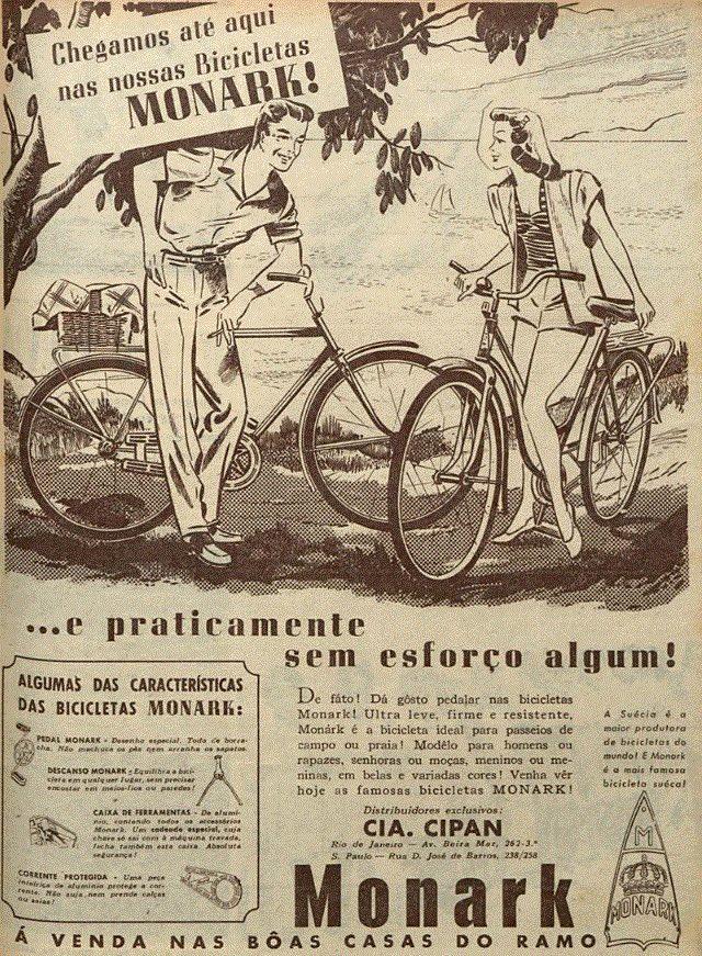 Propaganda antiga da Bicicleta Monark veiculada em 1948