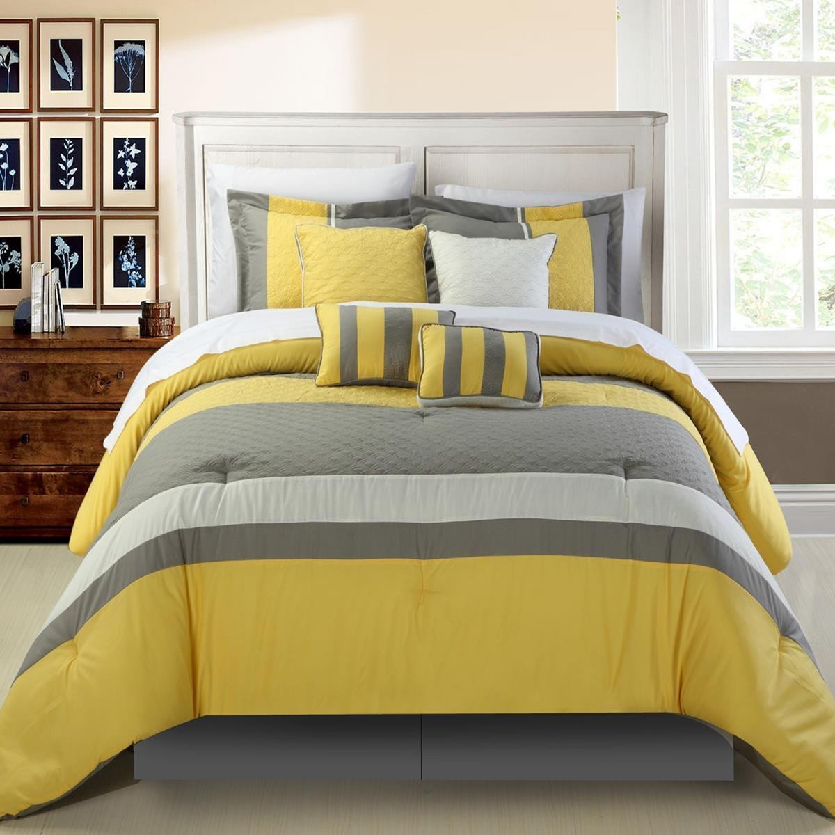 set grey comforter ella embellished com ip and walmart yellow