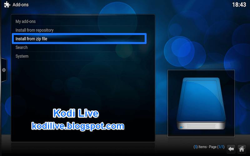 how to install kodi on wd live