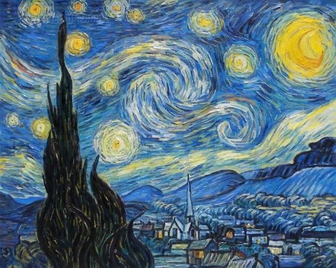 ليلة النجوم - لوحة فان جوخ  The Starry Night