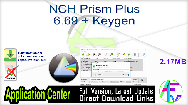 NCH Prism Plus 6.69 + Keygen