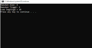 Menghitung Luas Lingkaran dan Luas Segitiga Menggunakan Java