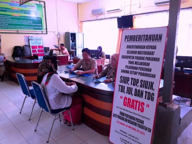 Dinas Pelayanan Terpadu dan Peridustrian Padang Pariaman,  Terus Optimalkan Pelayanan