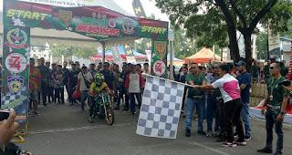 Sambut HUT TNI Ke 74, Korem 042/Gapu Gelar Drag Bike Drag Race