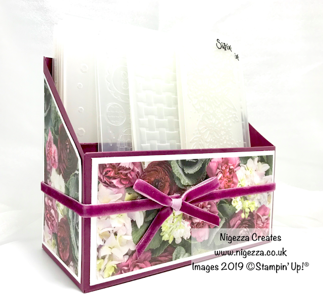 Nigezza Creates, Embossing Folder Storage Using Stampin' Up! Petal Promenade