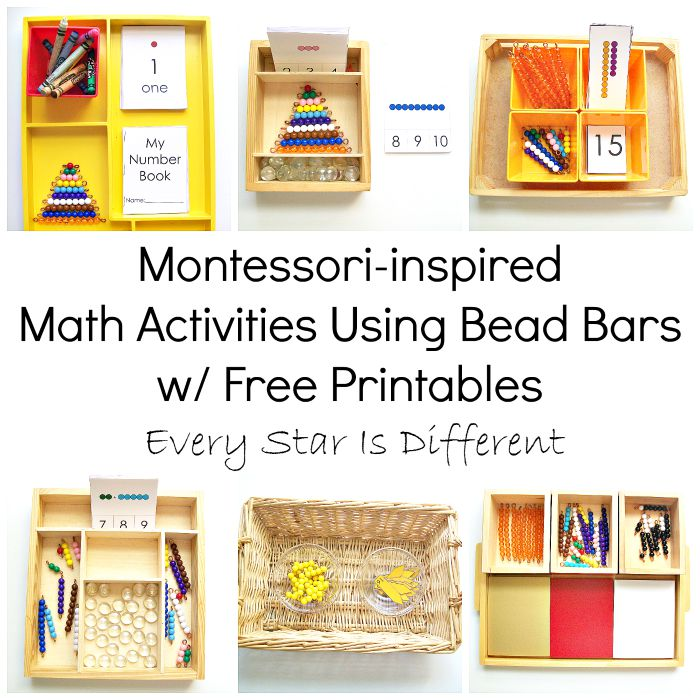 Montessori-inspired Math Bead Bar Activities